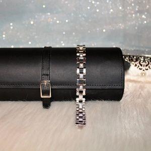 "Other - 8 1/2""  Men's Heavy Stainless Steel & CZ Bracelet"